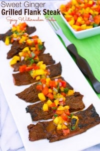 Sweet Ginger Grilled Flank