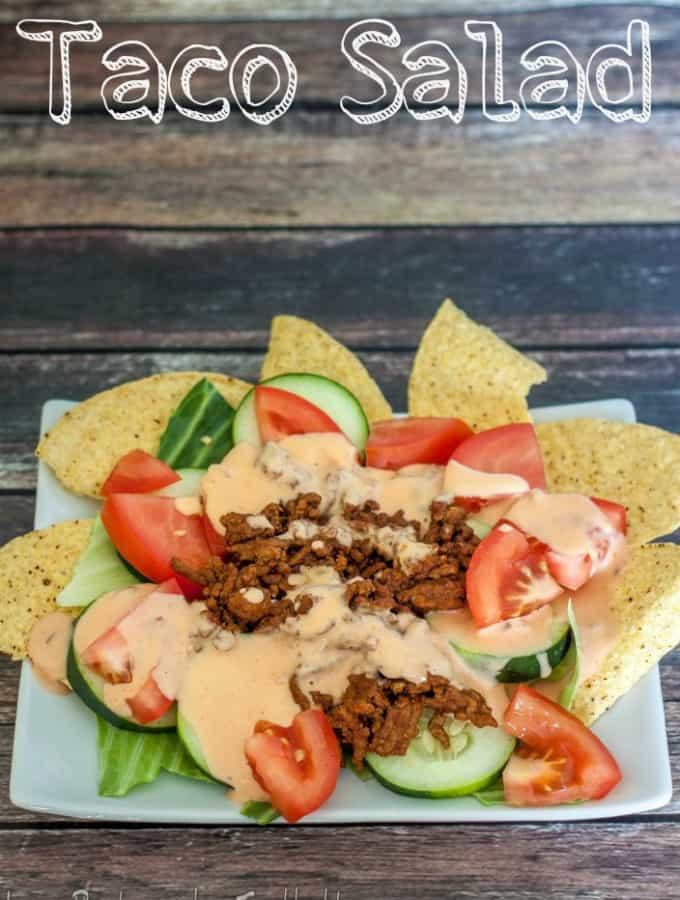 Taco Salad- Love, Pasta and a Tool Belt #ad #PublixFiesta | tacos | salad | recipes | Cinco de Mayo |