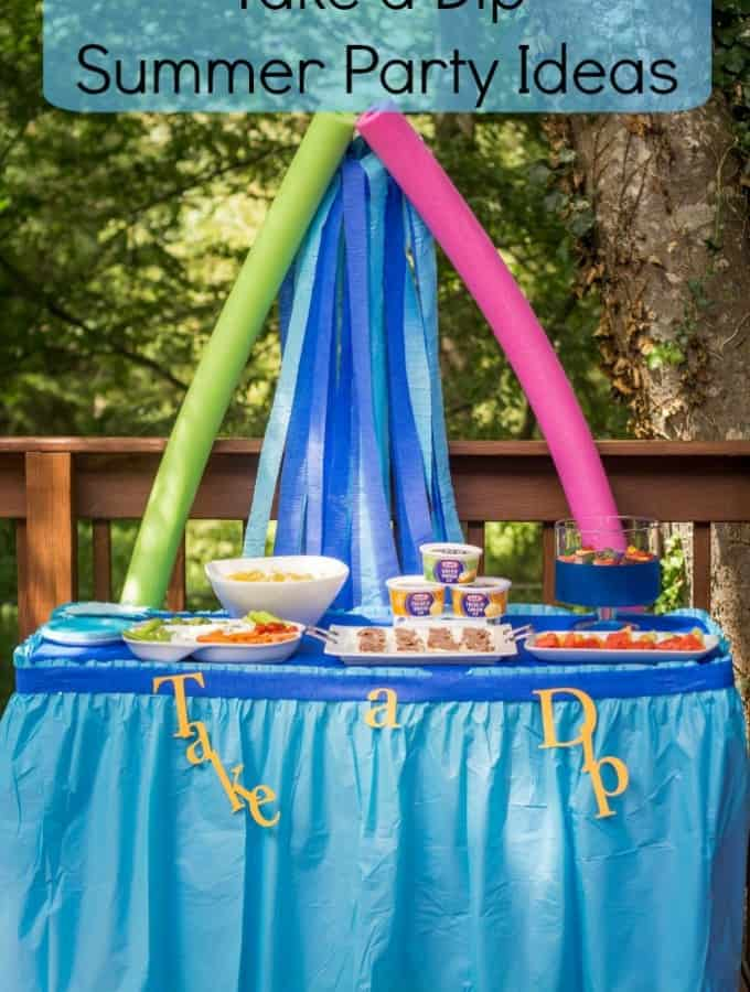 Take a Dip Summer Party Ideas with Kraft- Love, Pasta and a Tool Belt #DipYourWay #ad