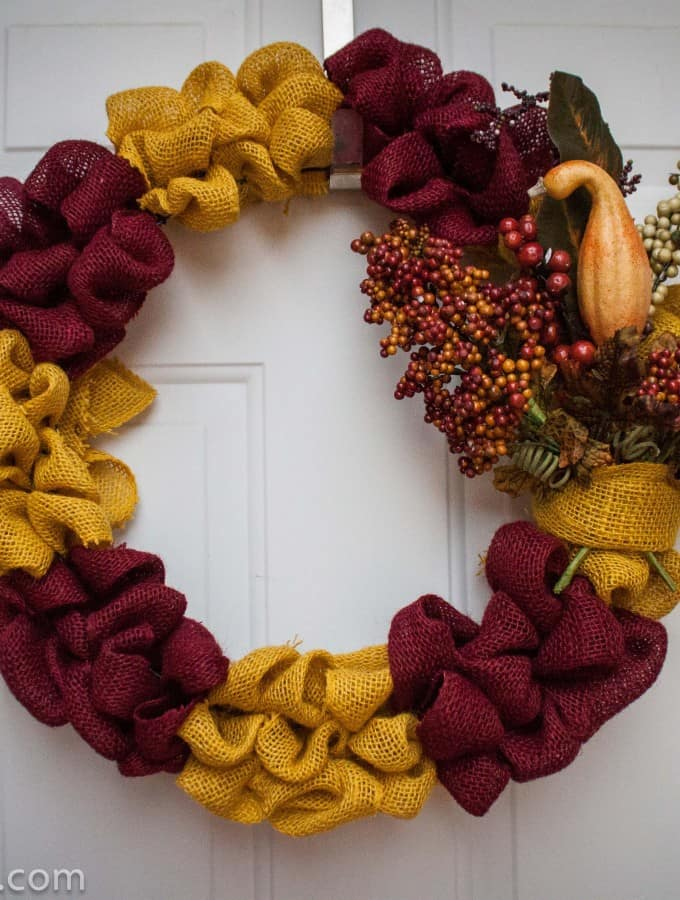 Thanksgiving Burlap Wreath