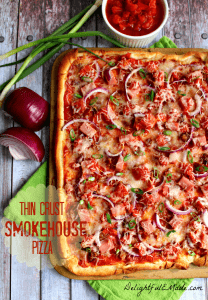 Thin Crust Smokehouse Pizza