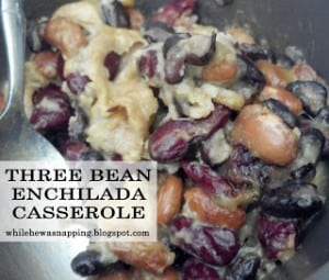 Three Bean Enchilada Casserole