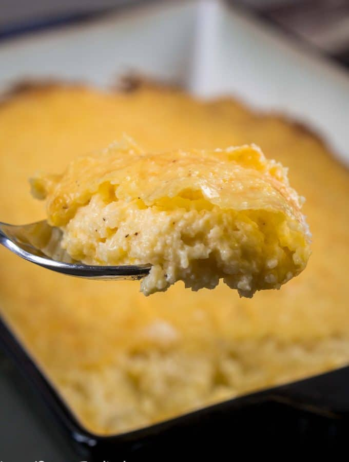 Three Cheese Grits Casserole