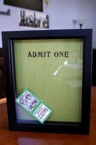 Ticket Stub Memory Box