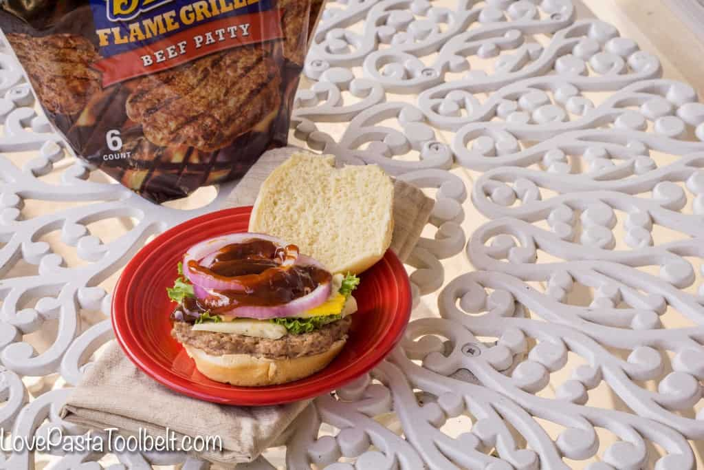 AD Try out this Fried Egg & Bacon Burger with Tyson® Ball Park® Patties for an easy and delicious dinner- Love, Pasta and a Tool Belt   dinner   recipes   easy dinner ideas   Hamburger   cheeseburger  