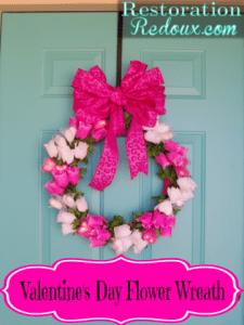 Valentine's Day Flower Wreath
