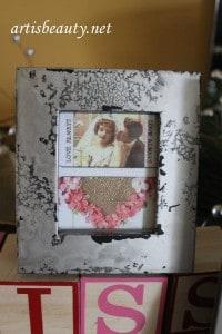 Valentines Faux Mercury Frame