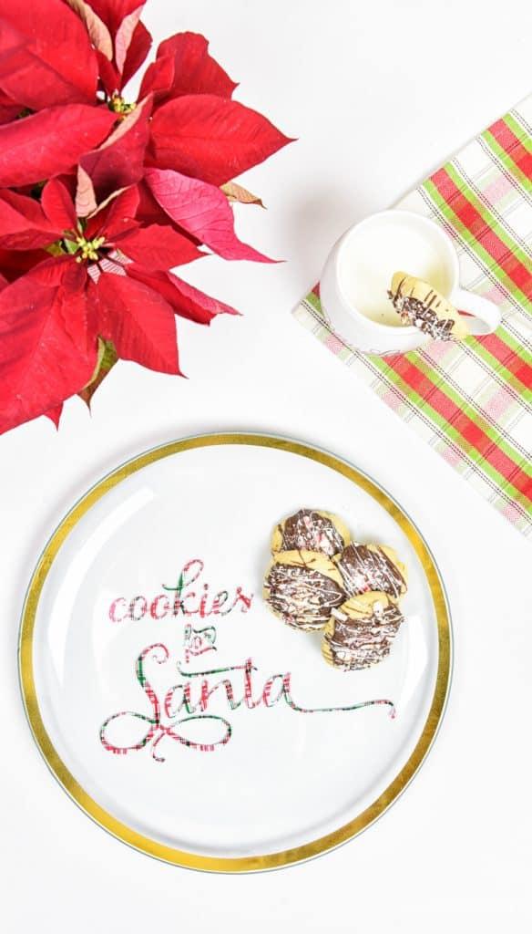 vinyl-cookies-for-santa-plate