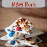 White Chocolate M&M Bark- Love, Pasta and a Tool Belt #HeroesEatMMs #CollectiveBias #shop