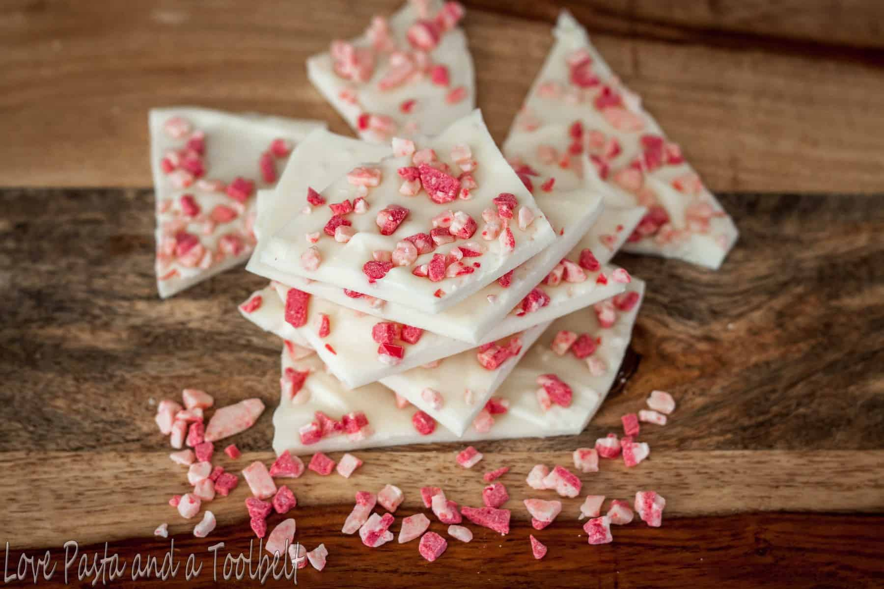 White Chocolate Peppermint Bark - Love, Pasta, and a Tool Belt