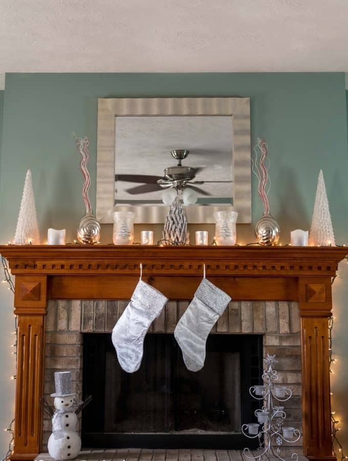 Silver and White Christmas Mantle Inspiration