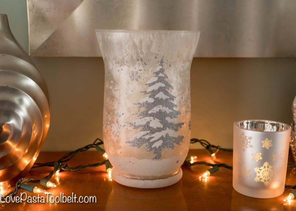 Get started on your Christmas decorating with this Silver and White Christmas Mantle Inspiration