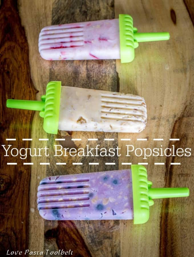 Breakfast Yogurt Popsicles with Yoplait®