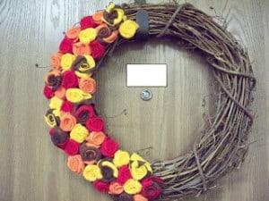 easy autumn floral wreath