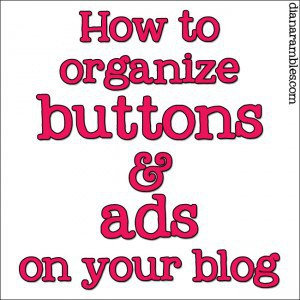 organize-buttons-ads-on-blog