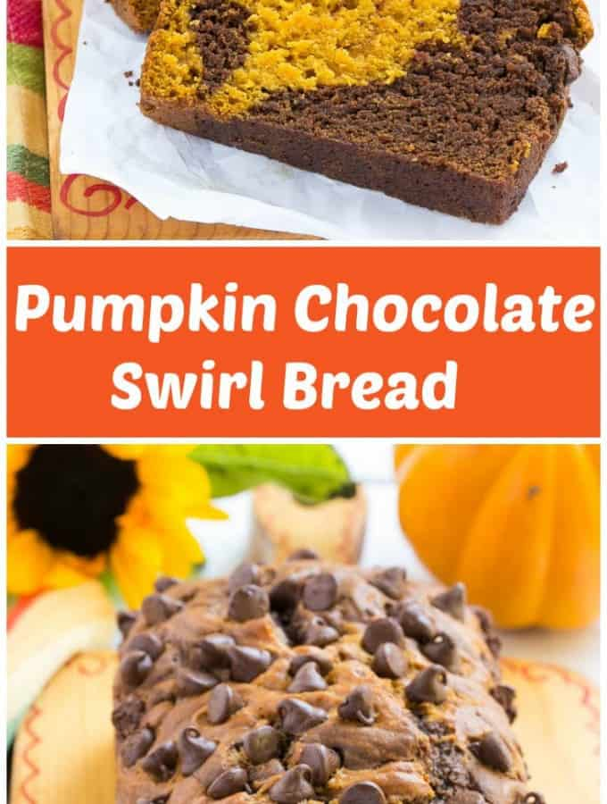 My contributor Sara is sharing this delicious recipe for Pumpkin Chocolate Swirl Bread- Love, Pasta and a Tool Belt | pumpkin | desserts | dessert ideas | fall recipes |