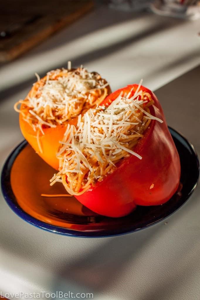 spaghetti stuffed peppers-2